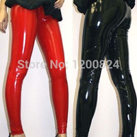 Free Shipping Hot Sexy Female  Black PU Leather Latex Leggings 2015 Hot Selling Lady Sexy Party Free Size Leggings