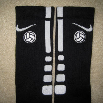 SPORTS VOLLEYBALL Custom Nike Elite Socks Black by ParsonsPlace4