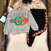 Gucci Kid Sports Wear Baby Clothing Outfit Girls Sport Suit Clothes Pants  Children's Clothing