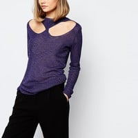 Lost Ink Cut Out Jumper at asos.com