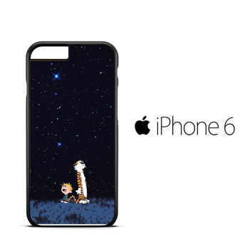 Calvin Hobbes Space V0302 iPhone 6 Case
