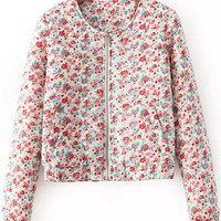 Floral Print Sweet Short Coat