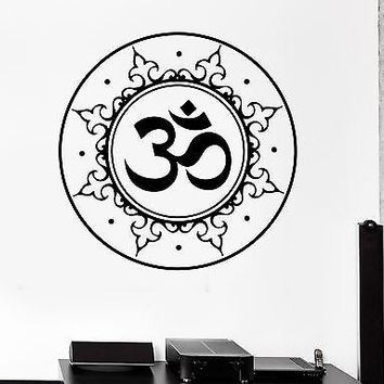 Wall Sticker Om Meditation Zen Chakra Zen Lotus Vinyl Decal Unique Gift (z2931)