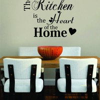 Kitchen Heart of the Home Quote Decal Sticker Wall Vinyl