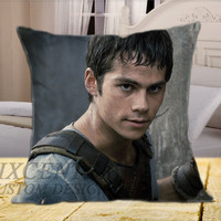 Dylan Obrien The Maze Runner on Square Pillow Cover