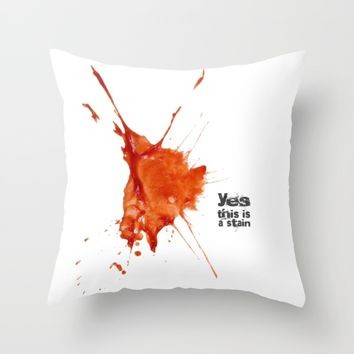 tomato stain Throw Pillow by Easyposters