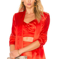 House of Harlow 1960 x REVOLVE Chloe Boyfriend Jacket in Racing Red