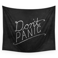 Society6 Don't Panic Wall Tapestry