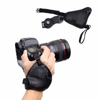 Camera Strap Wrist Hand Sling Strap Grip for NIKON D7100 D5500 D5300 D3200 D3300 D7100 D610 D600 For Sony PU Leather SLR DSLR