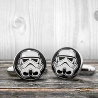 Star Wars cufflinks - STORMTROOPER helmet - Very elegant mens cuff links