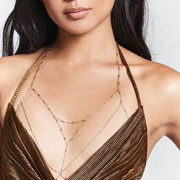 Beaded Body Chain Bralette