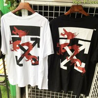 OFF White Newest Summer Casual T-Shirt Top Blouse