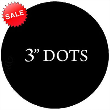 Polka Dots Circles 3 Inch Pack of (20) Peel & Stick Decal Wall Dots Colors Choice Kids VWAQ-555 (BLK)