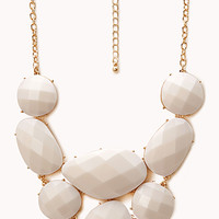 FOREVER 21 Standout Faux Stone Bib Necklace