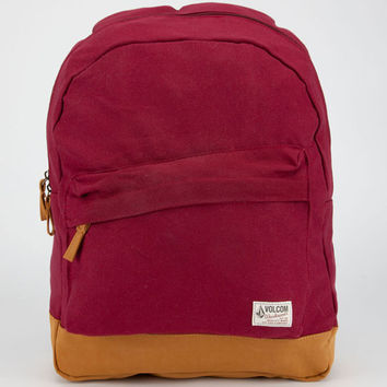 Volcom Supply & Demand Backpack Burgundy One Size For Women 19653332001
