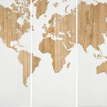 World Map Panel | Sanctuary Living Room1 | Living Room | Inspiration | Z Gallerie