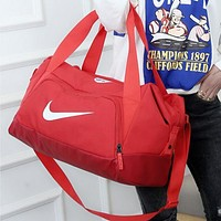 NIKE Travel bag Carry-on bag luggage Tote Handbag Red