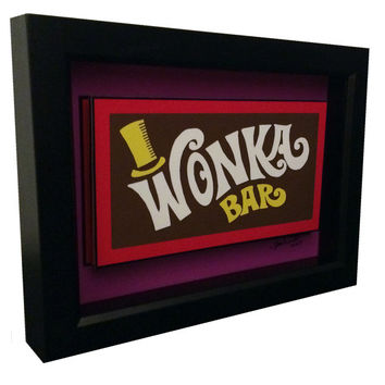 Willy Wonka Bar 3D Pop Art Charlie and the Chocolate Factory Poster Golden Ticket