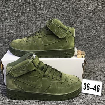 NIKE Air Army Green High Tops  Trending Fashion Casual Sports Shoes Red  G-CSXY