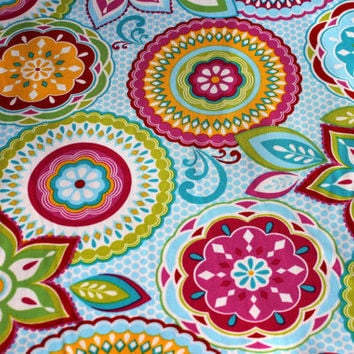 Colorful, Floral, Brother Sister Design Studio Fabric, 1 yard, 100 Percent Cotton, Heavy Cotton