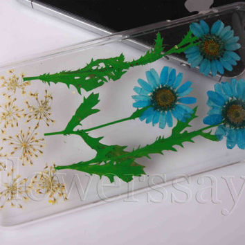 iPhone 6 case iPhone 6 plus Pressed Flower, iPhone 5/5s case, iPhone 4/4s case,  5c case Galaxy S4 S5 Note 2 note 3 Real Flower case NO:F325