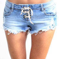 Shop LITE HEARTED DENIM SHORT by BILLABONG (#J2151LIT) on Diane's Beachwear