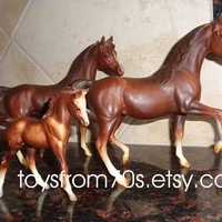 Vintage Breyer Horse - Classic Arabian Family - Stallion, mare and foal set, western decor, equine gifts, horse collectibles