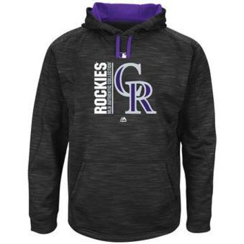 Colorado Rockies Majestic MLB Black Ultra Streak Pullover Hoodie