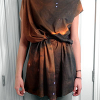 $120.00 Eagle Nebula Space Dress Organic  Cotton Jersey by shadowplaynyc