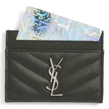 Saint Laurent 'Monogram' Credit Card Case | Nordstrom