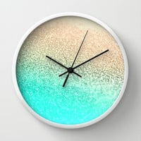 GATSBY AQUA GOLD Wall Clock by Monika Strigel
