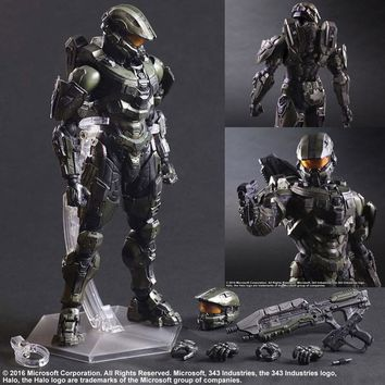 Halo Action Figure Play Arts Kai Master Chief PVC Toys 260mm Anime Games Collectible Model Toy Halo John Playarts Kai