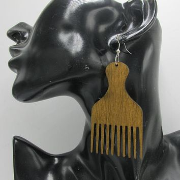 Picked out earrings | natural hair accessories | Afrocentric Fashion jewelry