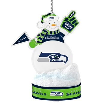 Seattle Seahawks LED Snowman Ornament | Overstock.com Shopping - The Best Deals on Football