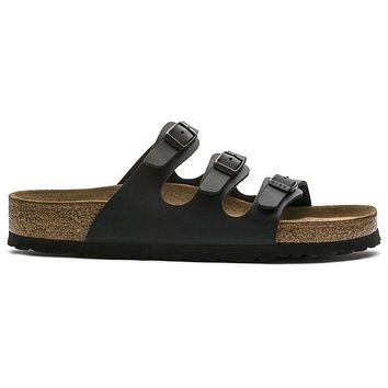 Birkenstock Florida Soft Footbed Birko Flor Black 453431 Sandals - Ready Stock