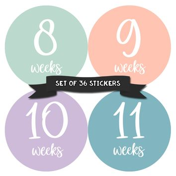 Pregnancy Deluxe Set of 36 Stickers