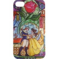 Disney Beauty And The Beast Stained Glass iPhone 4/4S Case