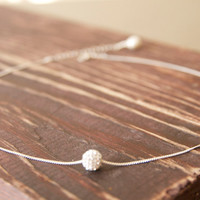 Best Friend Gift Ideas/Swarovski Crystal Ball Necklace/ World Charm Crystal Necklace/Best Friend Necklaces