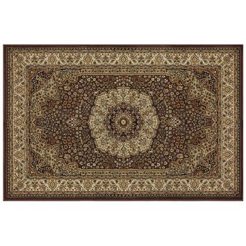 Mohawk Home Classique Turmeric Floral Rug - 2' x 2'11'' (Brown)