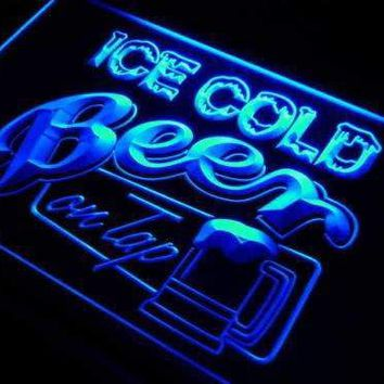 Ice Cold Beer on Tap LED Neon Light Sign