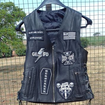 Black Label Society Leather Vest