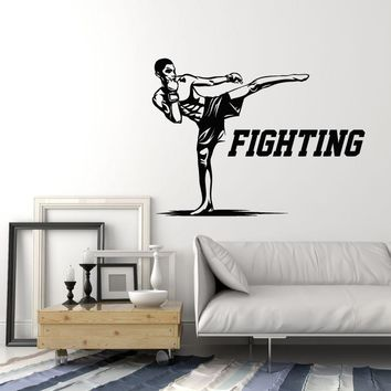 Vinyl Wall Decal Fighting MMA Fighter Martial Arts Fight Club Decor Stickers Mural (ig5518)