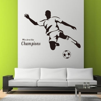 Hot Sale Champions Football Carved The Living Room Sofa Removable Paster Of Wall Waterproofing SM6
