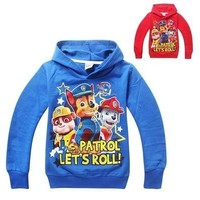 Paw Patrol Print Boys Long Sleeve Sweatshirt Tops Hoodies Kids Baby Clothes 2-7Y [9305871175]