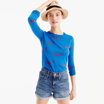 Tippi sweater in diver print : Women Pullovers | J.Crew