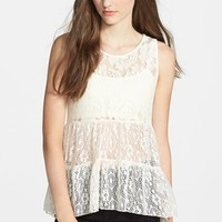 Lily White Tiered Lace Top (Juniors)