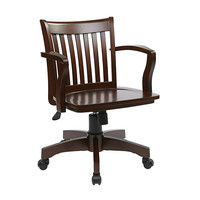Office Star Products 105ES Deluxe Wood Bankers Espresso Wood Chair with Wood Seat