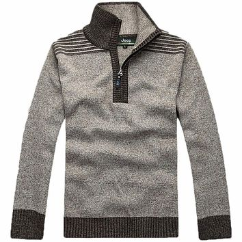 free shipping 2016 New fashion high quality Men's sweater Brand Slim Fit Casual Sweater Basic Knitwear clothing 50