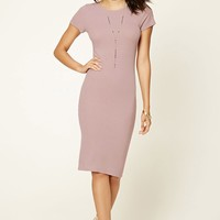 Contemporary Ribbed Midi Dress