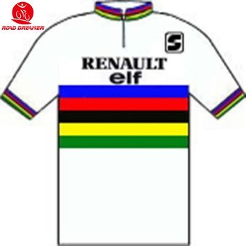 Tour de France 1984 Greg LeMond (Usa) Champion cycling jersey Short sleeved clothes Summer Bicycle jersey Ropa ciclismo maillot